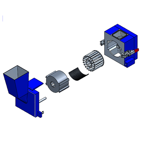LMQ Quadro Cutting Mill - RM technical drawing with sieve