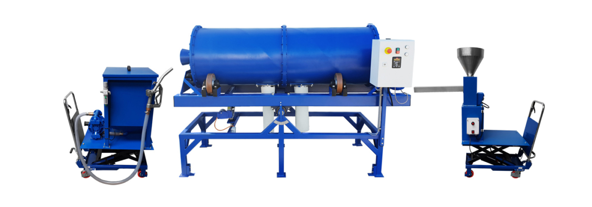 Continuous Ball Mill with feeder and lifting trolly