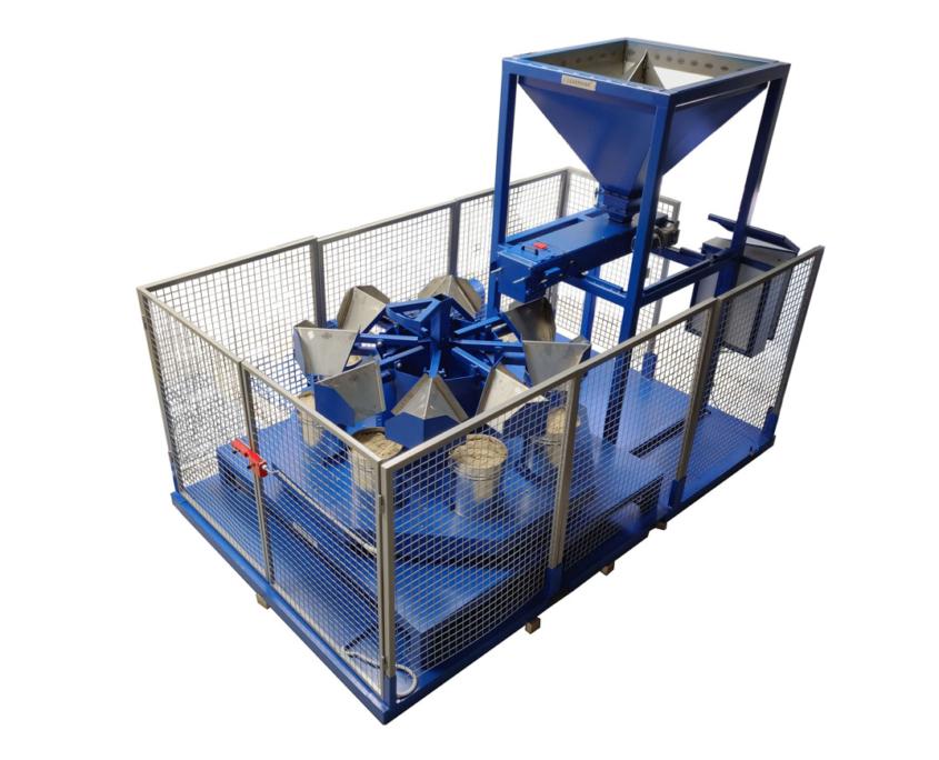 300 liter rotary sample divider sampling installation